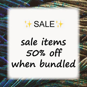 ✨SALE✨ marked items 50% off when bundled